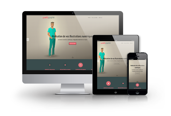 Interface graphique responsive
