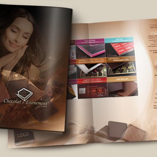 plaquette publicitaire chocolat