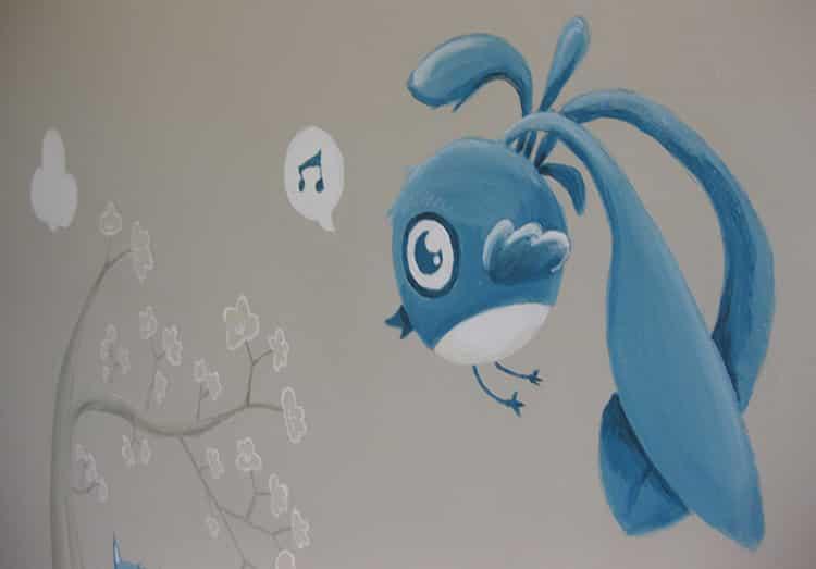 Portfolio graphiste for Peinture murale enfant