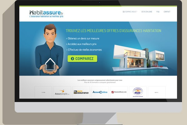 webdesign interface habitassure