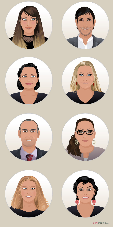 illustration visages