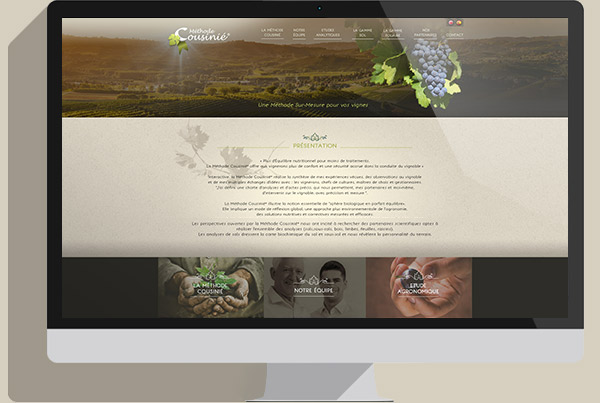 Webdesign site viticole