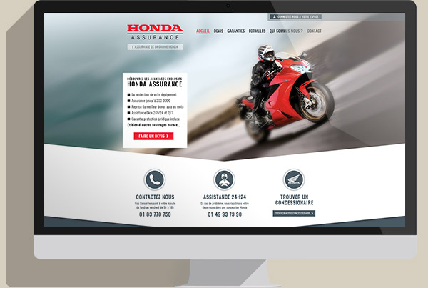 Interface Honda