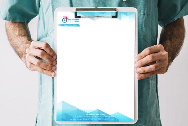 Conception de papier entête